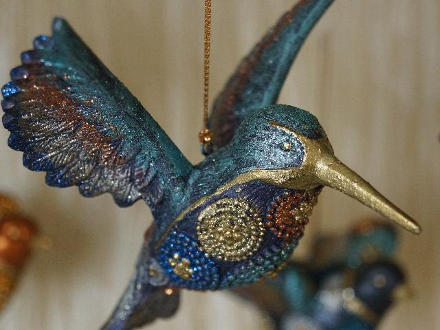 Kolorowy koliber - ozdoba świąteczna do powieszenia na choince